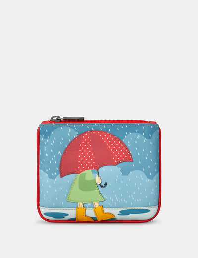 Umbrella Zip Top Leather Purse - Yoshi
