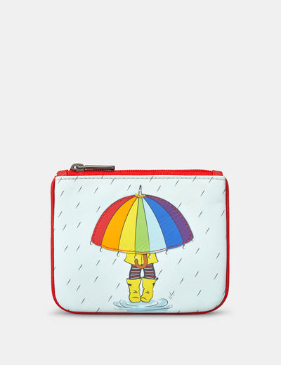 Rainy Day Zip Top Leather Purse - Yoshi
