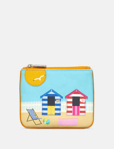 Beach Hut Zip Top Leather Purse - Yoshi