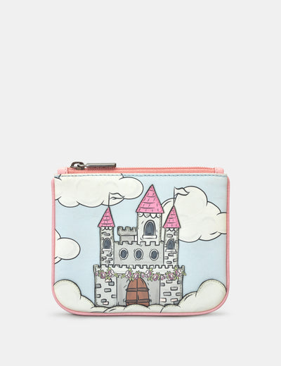 Princess Castle Zip Top Leather Purse - Yoshi