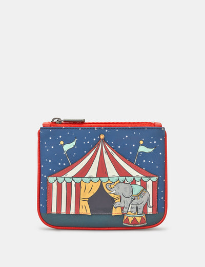 Circus Tent Zip Top Leather Purse - Yoshi