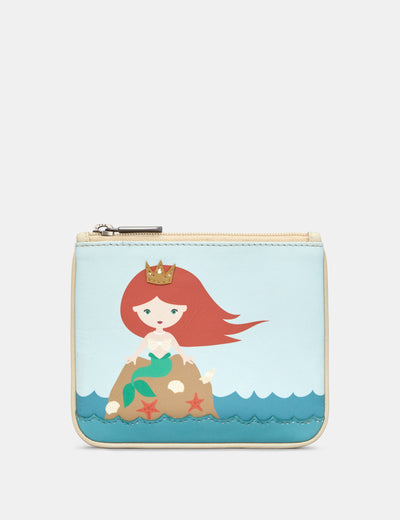 Mermaid Zip Top Leather Purse - Yoshi
