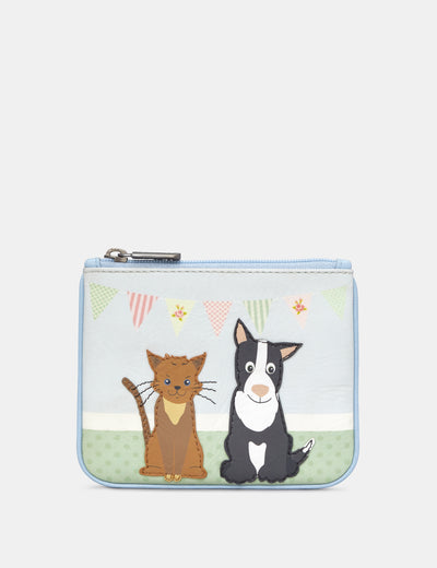 Pet Tea Party Zip Top Leather Purse - Yoshi