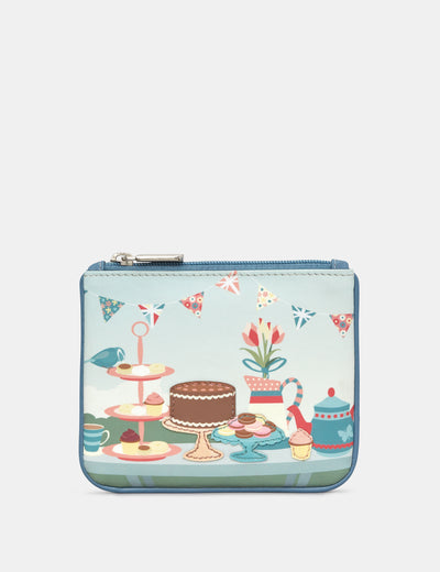 Afternoon Tea Party Zip Top Leather Purse - Yoshi