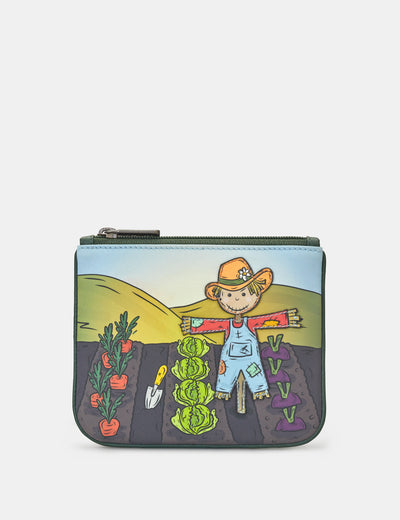 Scarecrow Zip Top Leather Purse - Yoshi