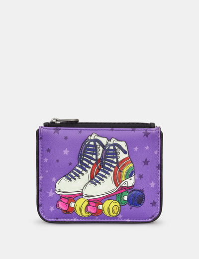 Let the Good Times Roll Zip Top Leather Purse - Yoshi