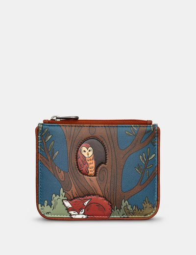 Woodland Friends Zip Top Leather Purse - Yoshi