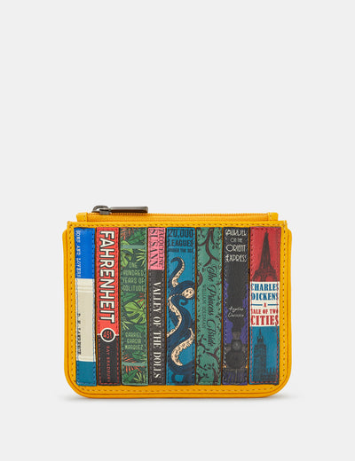 Bookworm Yellow Leather Caxton Purse - Yoshi