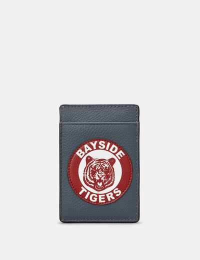 Bayside Tigers Grey Leather Compact Card Holder - Yoshi
