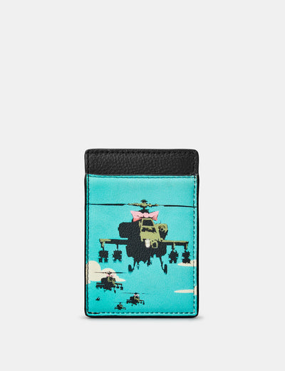 Banksy Apache Leather Compact Card Holder - Yoshi