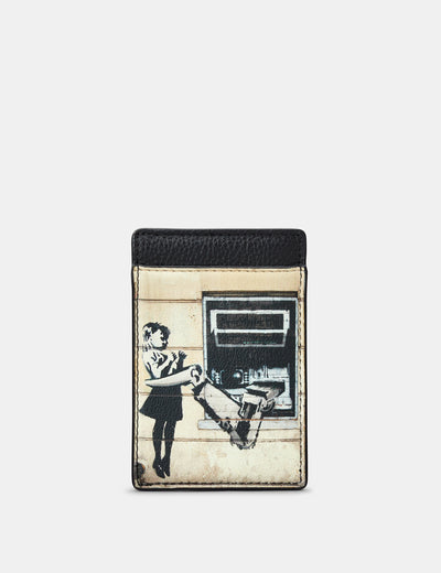 Banksy Cash Machine Leather Compact Card Holder - Yoshi