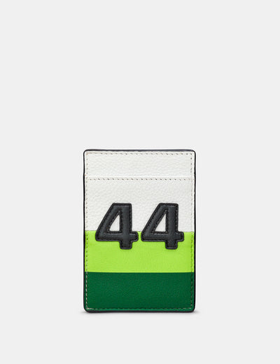 Car Livery #44 Leather Compact Card Holder - Yoshi