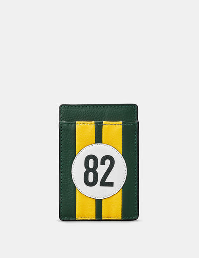 Car Livery #82 Leather Compact Card Holder - Yoshi