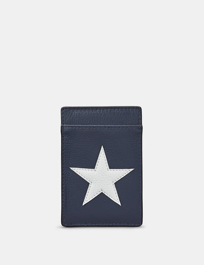 Stars And Stripes Leather Compact Card Holder - Yoshi