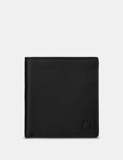 Slim Black Leather Wallet - Yoshi