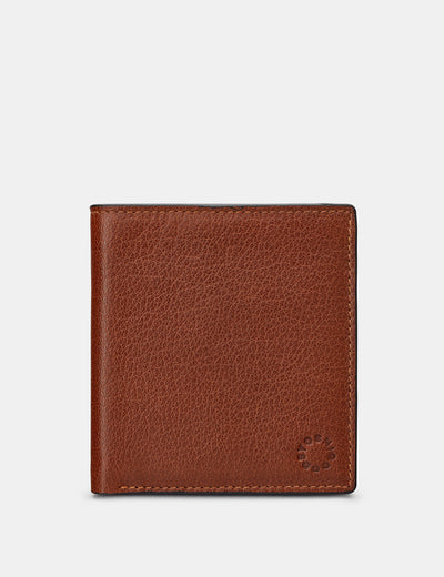 Slim Brown Leather Wallet - Yoshi