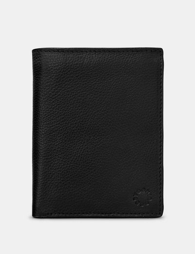 Extra Capacity Traditional Black Leather Wallet - Yoshi