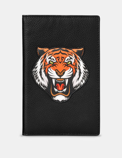 Tiger Black Leather Golf Scorecard Holder - Yoshi