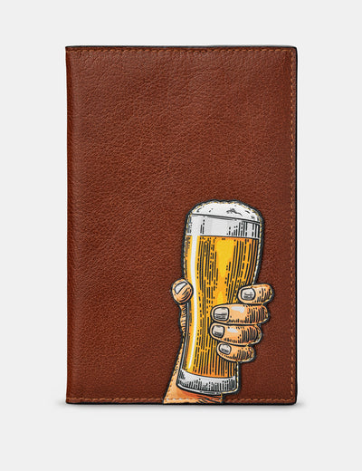 Cheers Brown Leather Golf Scorecard Holder - Yoshi