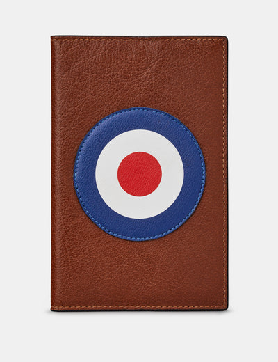 Mod Target Brown Leather Golf Scorecard Holder - Yoshi