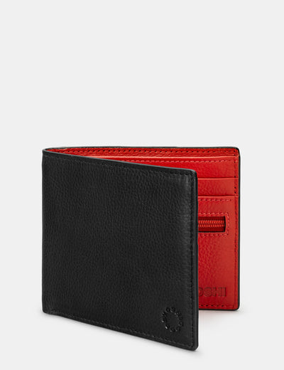 Black And Red Leather Wallet - Yoshi