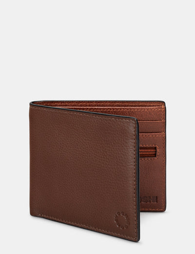 Brown And Tan Leather Wallet - Yoshi