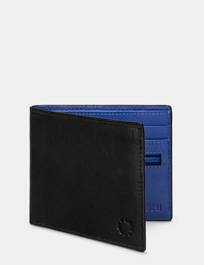 Black And Blue Leather Wallet - Yoshi
