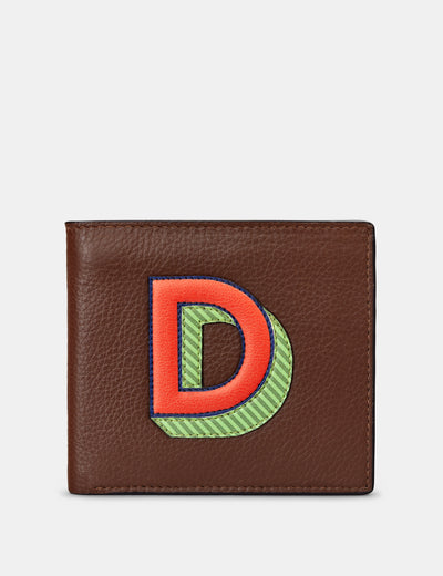D Monogram Brown Leather Wallet - Yoshi