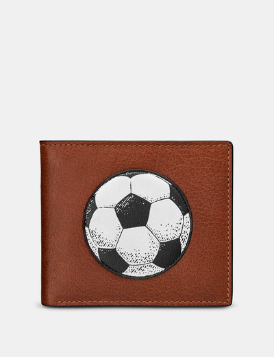 Football Brown Leather Wallet - Yoshi