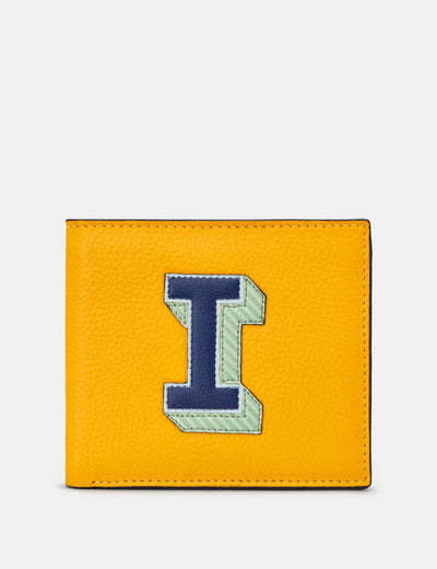 I Monogram Yellow Leather Wallet - Yoshi