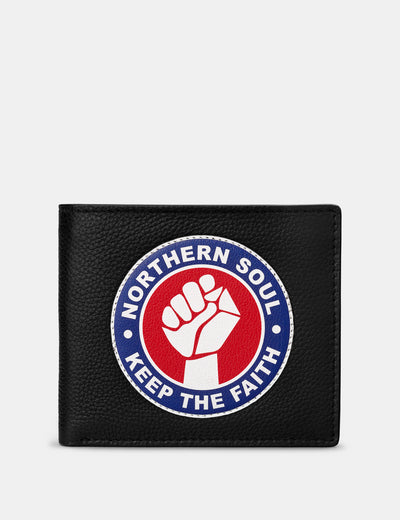 Northern Soul Black Leather Wallet - Yoshi