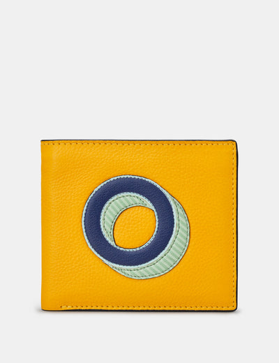 O Monogram Yellow Leather Wallet - Yoshi