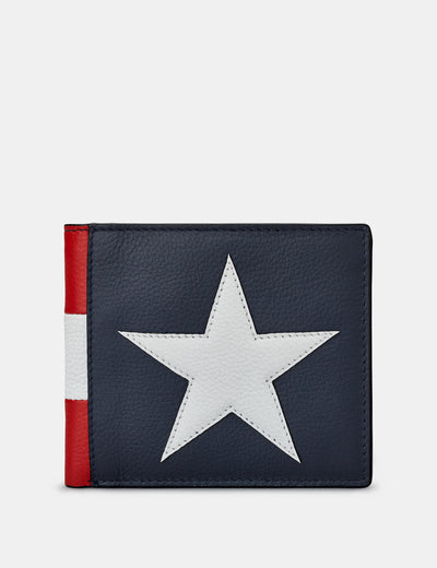 Stars And Stripes Leather Wallet - Yoshi