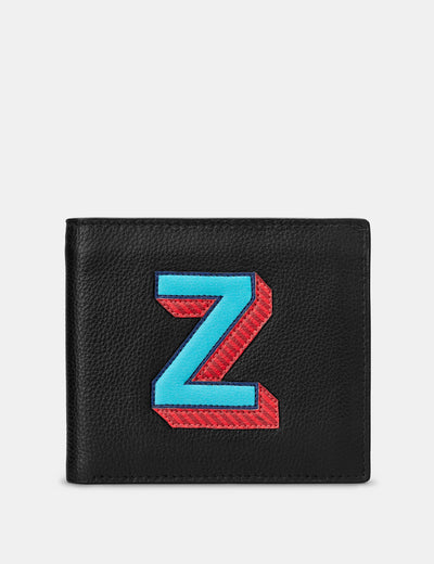 Z Monogram Black Leather Wallet - Yoshi
