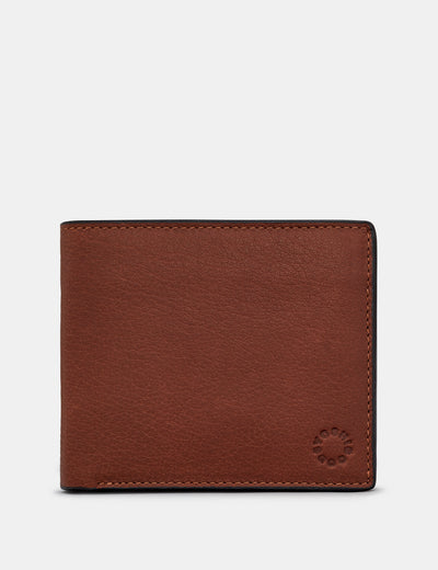 Extra Capacity Brown Leather Wallet With Coin Pocket - Yoshi