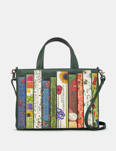 Green Fingers Bookworm Leather Multiway Grab Bag - Yoshi