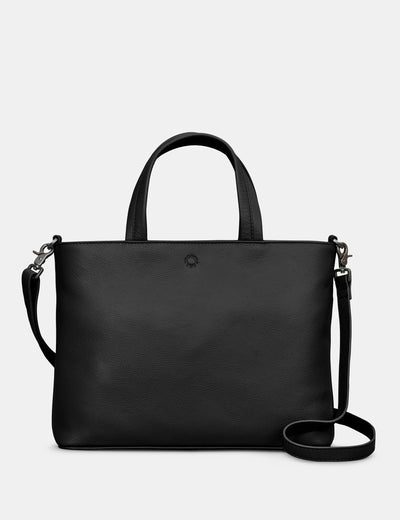 Hampton Black Leather Multiway Grab Bag - Yoshi