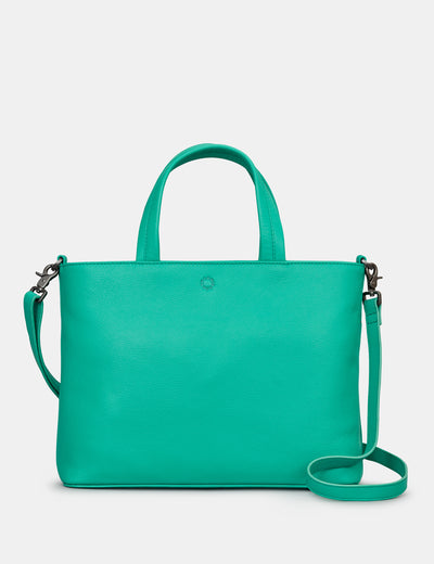 Hampton Jade Green Leather Multiway Grab Bag - Yoshi