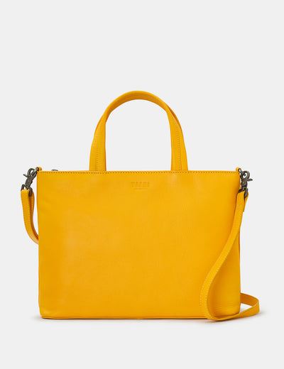 Hampton Yellow Leather Multiway Grab Bag - Yoshi