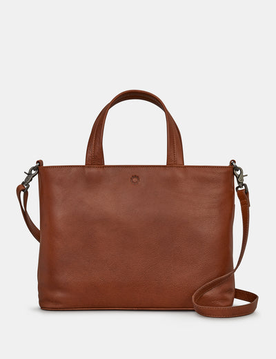 Hampton Brown Leather Multiway Grab Bag - Yoshi