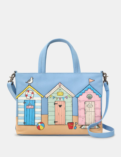 Happy Daze Blue Leather Multiway Grab Bag - Yoshi