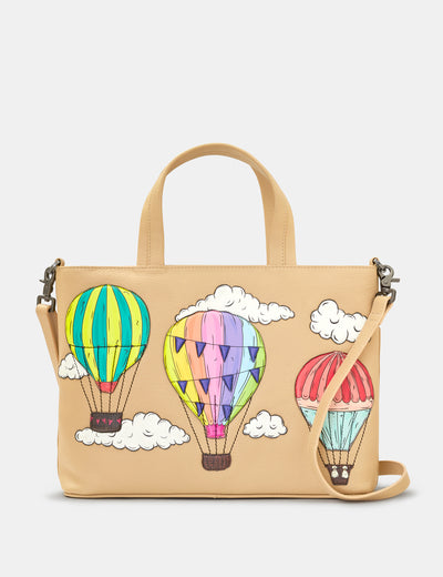 Amongst The Clouds Leather Multiway Grab Bag - Yoshi