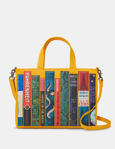 Bookworm Yellow Leather Multiway Grab Bag - Yoshi