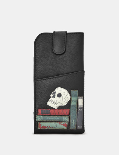 Shakespeare Bookworm Black Leather Chilton Glasses Case - Yoshi