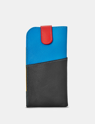 Black Multi Leather Chilton Glasses Case - Yoshi