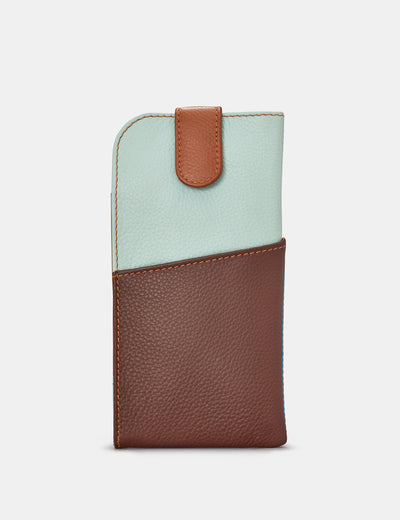 Brown Multi Leather Chilton Glasses Case - Yoshi