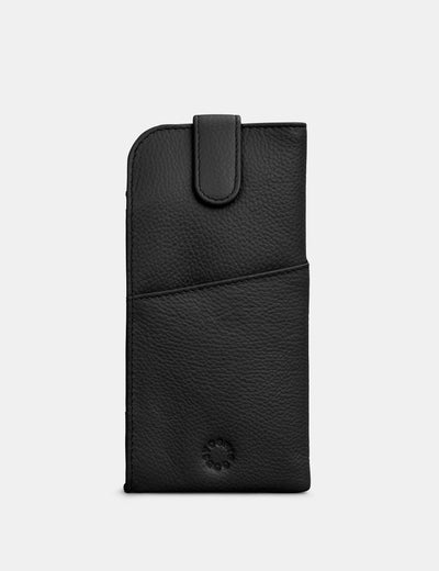 Black Leather Chilton Glasses Case - Yoshi