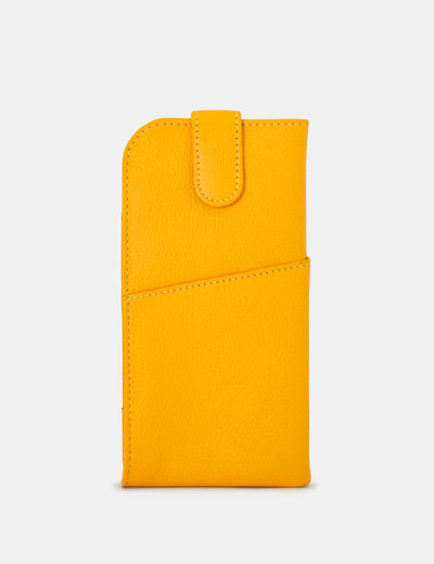 Yellow Leather Chilton Glasses Case - Yoshi