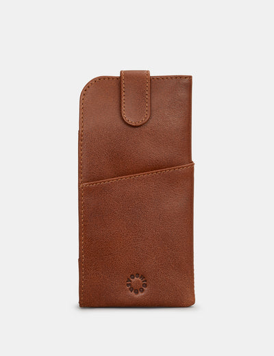Brown Leather Chilton Glasses Case - Yoshi