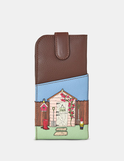 Potting Shed Brown Leather Chilton Glasses Case - Yoshi